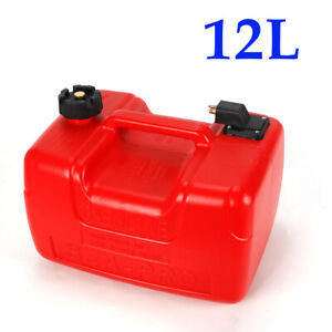 3.2 Gallon Boat Fuel Tank Low Profile 12L Portable Outboard Motor Gas Storage US