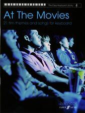 En el cine de la Biblioteca de Teclado Fácil Libro De Partituras