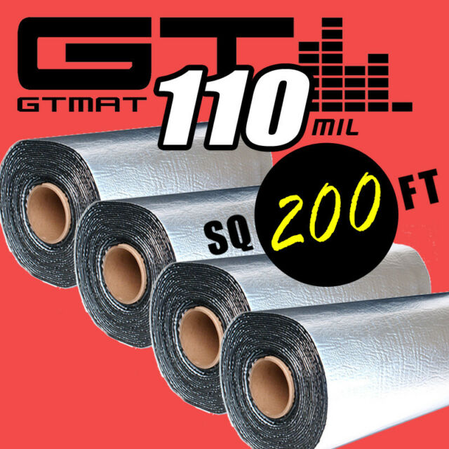 NEW 200sqft GTMAT 110mil Thick Sound Noise Rattle Proof Deadening Dead Material