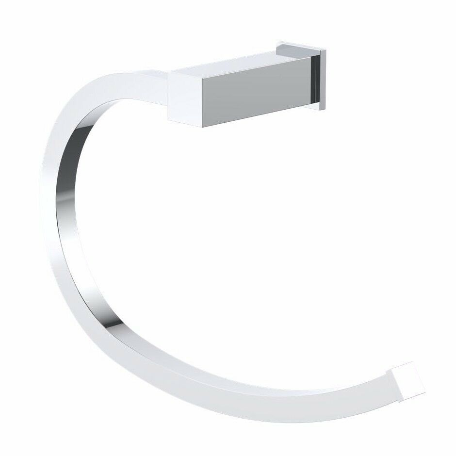 Caroma QUATRO TOWEL RING Curved, Polished Chrome Finish Australian Brand