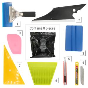 8 PCS Pro Window Tint Kits Wrapping Vinyl Tools Squeegee Scraper Applicator