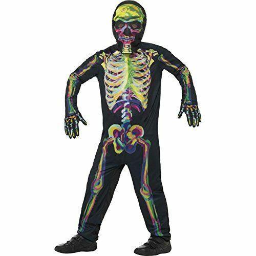 Child Teen Glow in the Dark Skeleton Costume Bodysuit Halloween Outfit