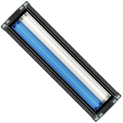 """HO T5 Dual Aquarium Light Fixture 24/"""" /& 2x 24W T5 Bulb 10000K Day /& Super Blue"""