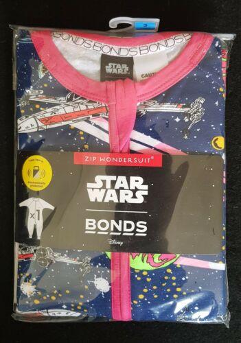 New Bonds Zippy Wondersuit Star Wars Galaxy  Size 00 0 1 2 3 BNIP Zip