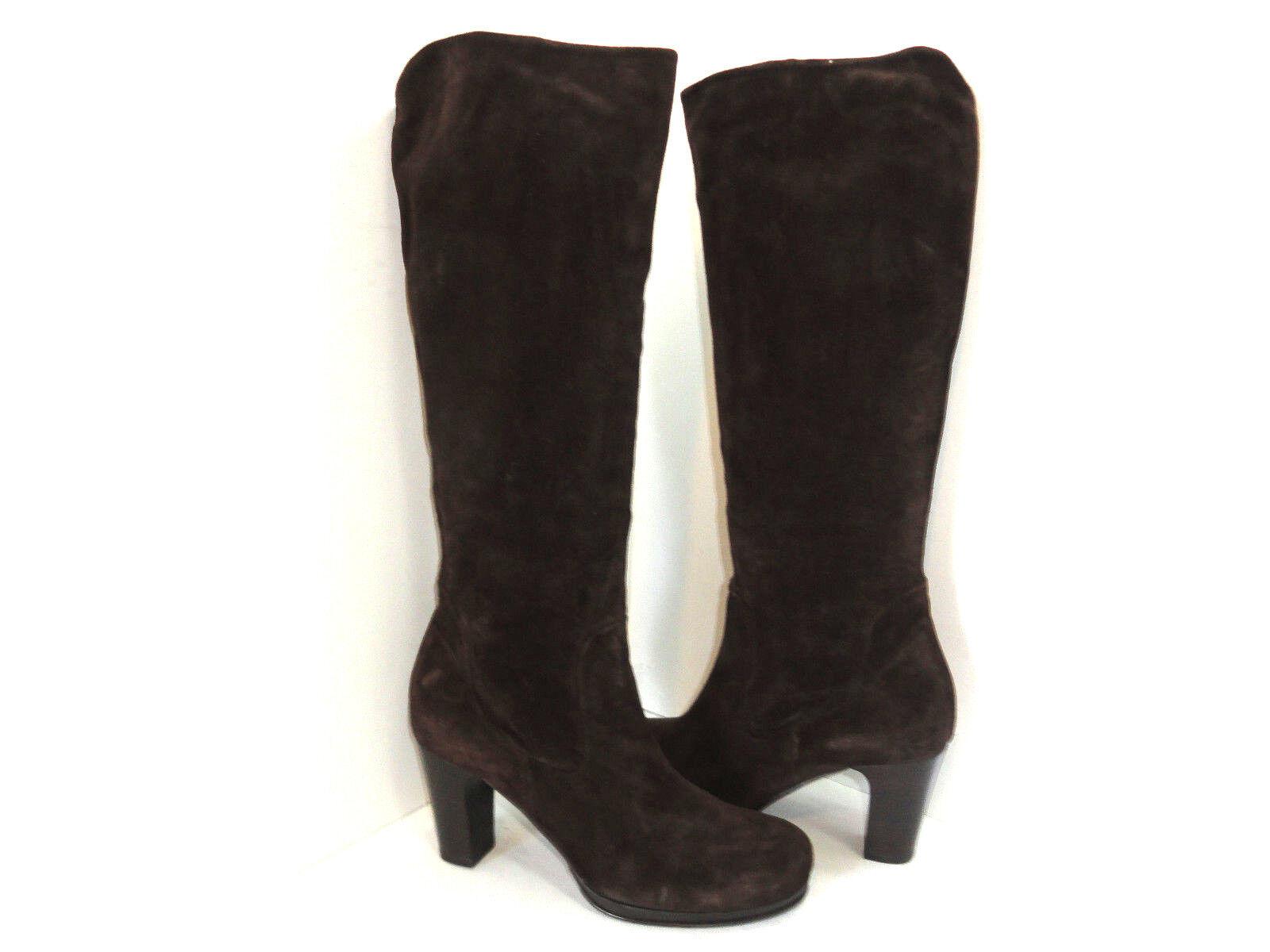 Alberto Fermani Women's Brown Suede Knee High Platform Boots Size 9 US 40EU
