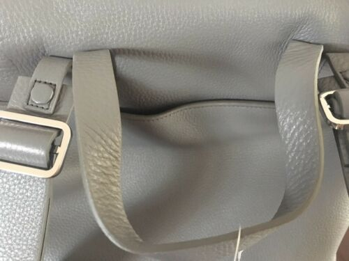 Details about  /NWT Halston Heritage Backpack Lg Leather//Suede Drawstring Carryall gray Bucket