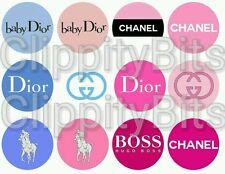 "50 x 1"" Inch Pre Cut Bottle Cap Images Pink Designer Brands Pictures bows craft"