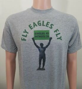 Philadelphia Eagles Super Bowl Champs ROCKY T-Shirt FLY EAGLES FLY ... 7081d9ebd