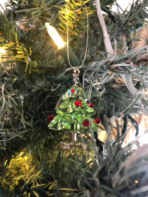 Swarovski Crystal Figurine Christmas Tree Ornament Green Retired 904990 - Swarovski Crystal Figurine Christmas Tree Ornament Green Retired