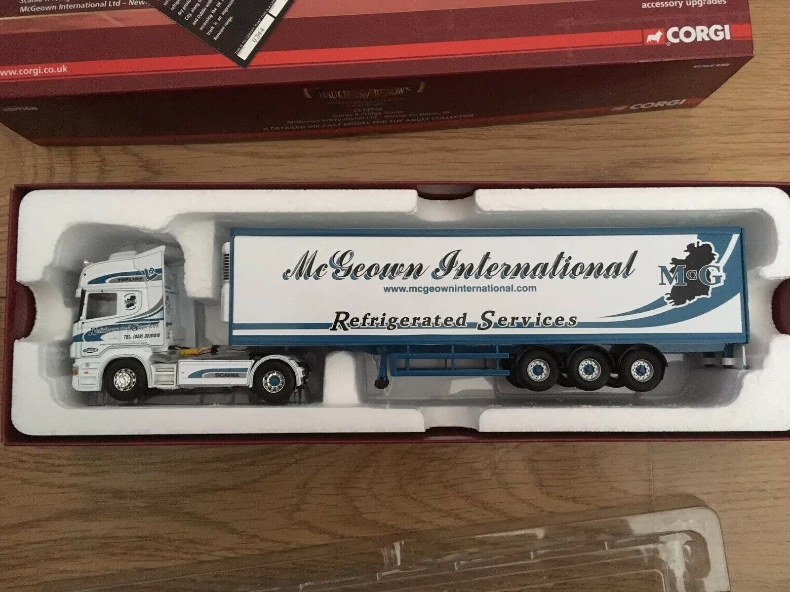 Scania R fridge Trailer McGeown - Newry co down ltd ed CC13736 Corgi Lorry 1 50