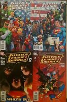 Justice League of America 0 1 1 variant 2 NM/VF 1st prints Lot of 4 comics