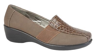 Shoe Tree Jengibre Marrón Zapatos De Cuña Baja Comodidad UK 6 EU 39 LG08 23