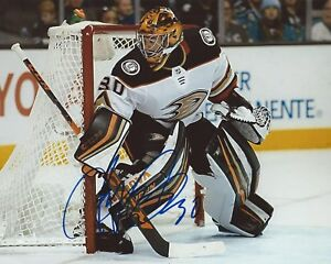 Ryan-Miller-Signed-8x10-Photo-Anaheim-Ducks-Autographed-COA-B