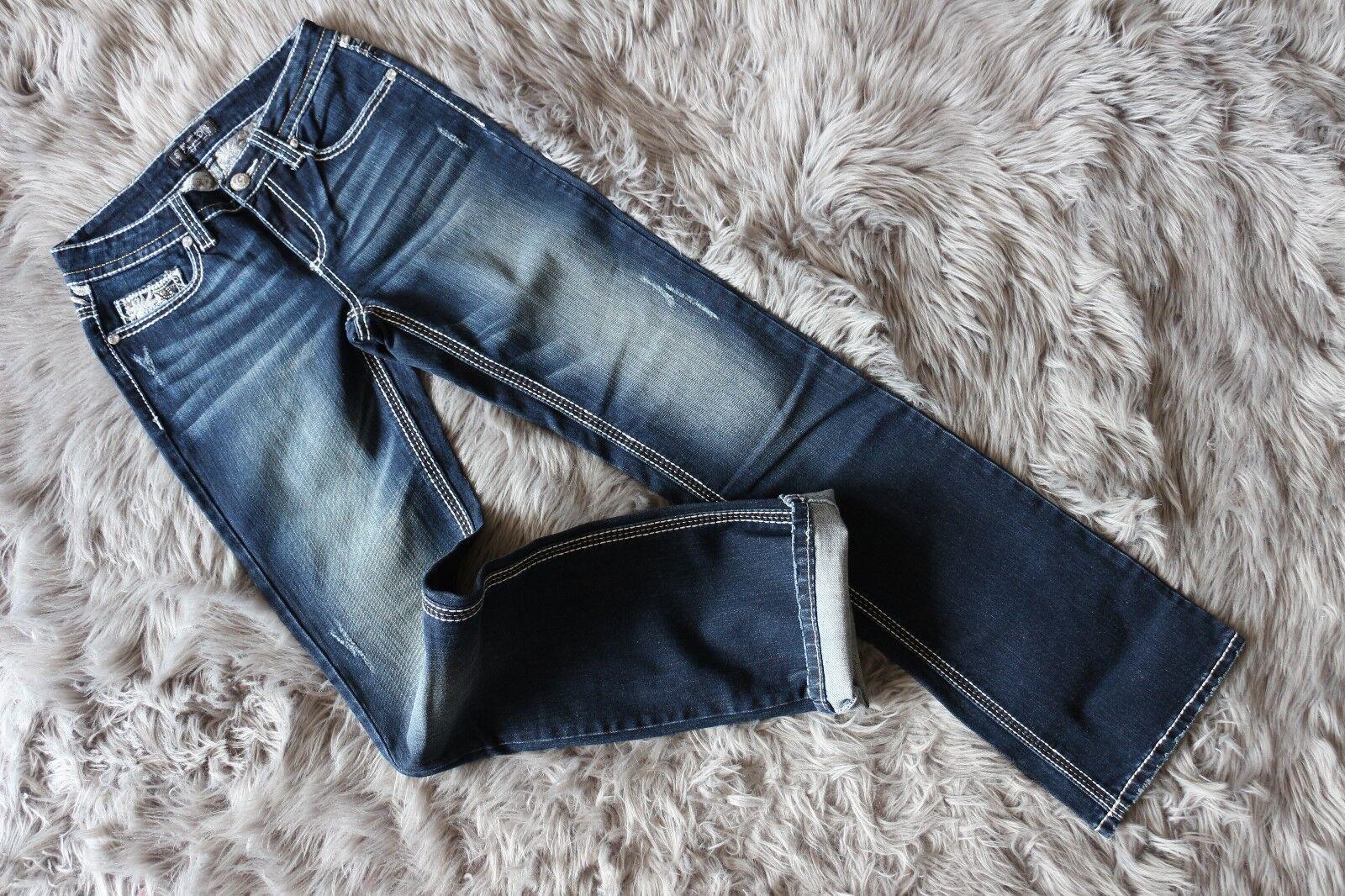 Brand New Shyanne Women Jeans bluee Mid-Rise Straight W27