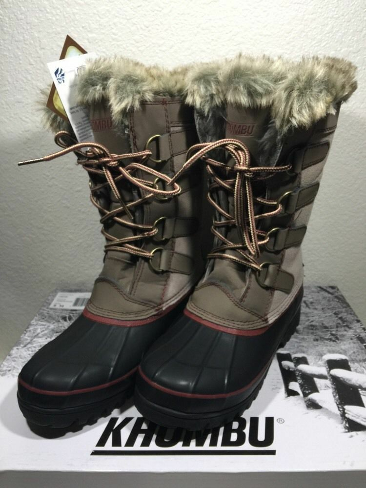Khombu Womens North Star Winter Boots Waterproof ~ Tan ~ Various Sizes