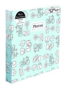 6'' x 4'' Gluebound 2Up Slipin Photo Album with Memo Area 140 Photos Soft Cover  5012128386220