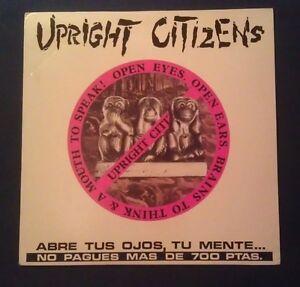 UPRIGHT-CITIZENS-034-Open-Eyes-Open-Ears-034-Punk-hardcore-Lp-vinilo-1991