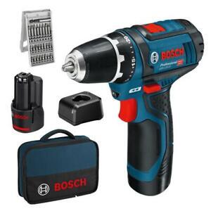 Bosch-Akku-Bohrschrauber-GSR-12-V-15-inkl-2-Akkus-2-0-Ah-25tlg-Bitbox-Tasche
