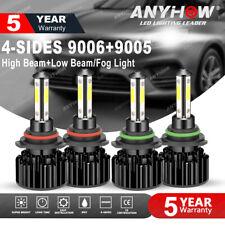 4side 90059006 Combo Led Headlight Cree Cob 440w Highlow Beam Light Bulbs 4pcs