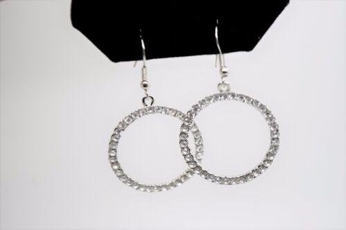C332 Modern Style Rhodium Plated Clear Rhinestone Wedding Drop Fashion Earring