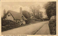Leek Wootton near Kenilworth. Old Cottages by J.J. Ward, Coventry # 1071.