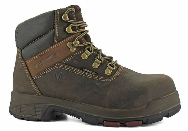 f134d1b8e53 MENS WOLVERINE 6 INCH CABOR W10315 WATERPROOF EH SLIP RESISTANT WORK BOOT