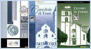 Lotto-3-folder-francobolli-in-lamina-argento-150-lira-duomo-Trani-duomo-Fermo