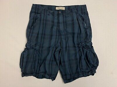 Men's Sonoma Blue Plaid Cargo Shorts Euc Men's Clothing Clothing, Shoes & Accessories