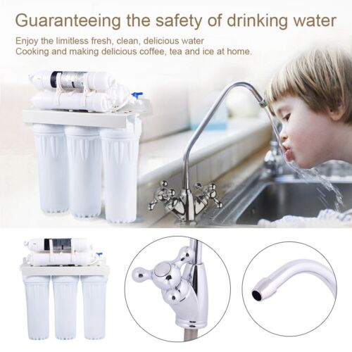 Home Office Drinking Water Purifier Reverse Osmosis 6 Stage Filter System Kit UK
