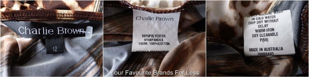 CHARLIE BROWN - - - NEW -  Size 12  US 8 Dress Long Sleeve Made in Australia e5b8d9