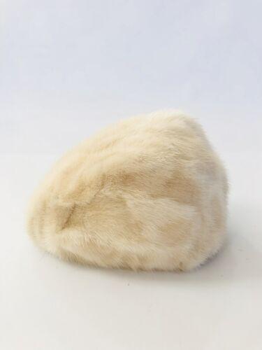 Vtg 1950s  Adolfo II White Fur Hat Sz 21.5 Adorabl