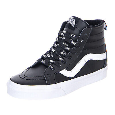 Vans Ua Sk8 Hi Reissue Otw Webbing Black Leather High Sneakers Man's Black | eBay