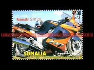 KAWASAKI ZZR 1100 ZZ-R 2003 SOMALIA SOMALI Timbre Poste Moto Stempel Stamp - France - TIMBRE POSTE MOTO KAWASAKI ZZR 1100 Pays : SOMALIA - SOMALI Année : 2003 Neuf , trs bon état Dimensions : 36x51 mm !!! Document Original ; NO COPY !!! Inscrivez-vous PayPal. Cest simple, rapide et gratuit. Noubliez pas de majouter votre liste d - France