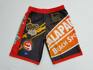 Footex Pantaloncino Beach Volley Made In Italy Colore Nero/rosso/arancio éConomisez 50-70%