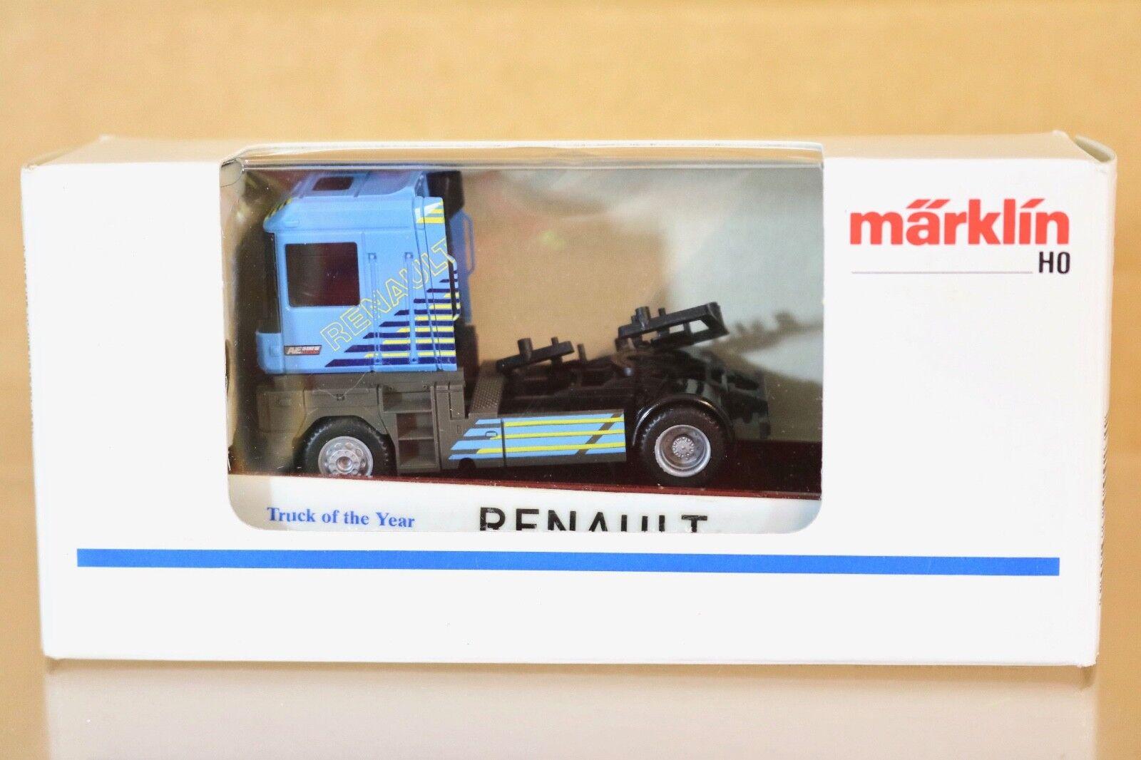 Marklin 4423 Sondermodellllerl Plat Wagon blå Renault AE500 Camion de L'Ann 65533;rough 65533e e Nq