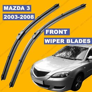 Side-Pin-Front-set-Wiper-Blade-For-Mazda-3-Series-03-2008-53-54-55-56-57-58-reg