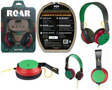 House of Marley EM-JH081-RA The Roar On-Ear Headphones, Rasta