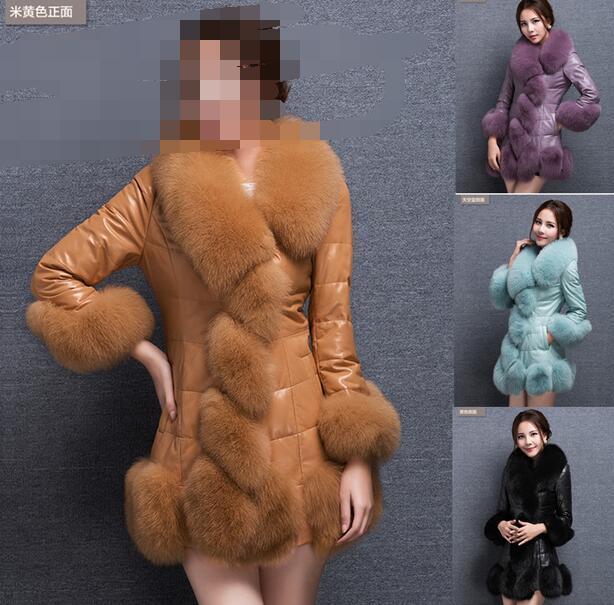 Nuevo abrigo de piel de imitación de invierno para mujer abrigo de piel chaqueta de piel outwear zanja acolchada