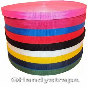 Polypropylene-Webbing-10-meter-Roll-x-25mm-colour-1-034-and-Choice-of-Colour