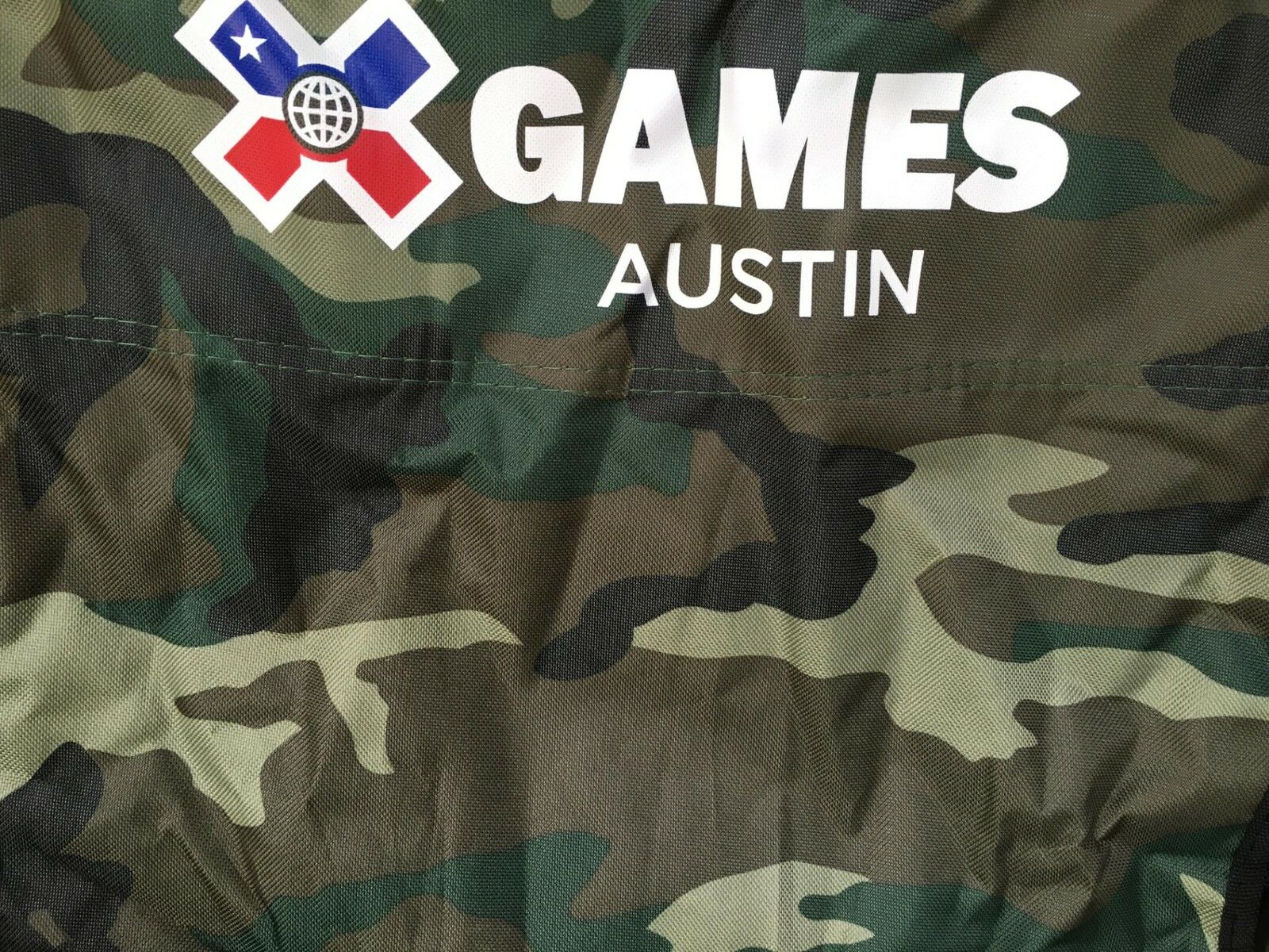 2016 X GAMES AUSTIN TEXAS CAMO FOLDING CHAIR ATHLETE ONLY CAMOUFLAGE WAKEBOARD