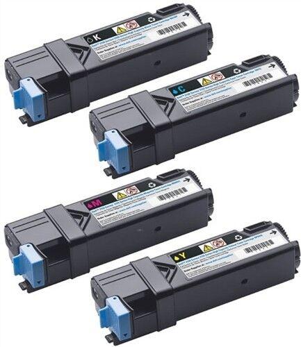4 Toner New Compatible Cartridge for Dell 2150CN 2155CDN 331-0719//0718//0717//0716