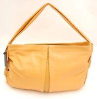 Desmo Italy Pebbled Italian Leather Hobo Shoulder Bag Handbag Tote Tan