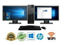 """Lenovo Desktop Computer🚩32GB 2TB SSD Quad Core i7🚩Win 10 PC 24"""" Dual LCD Wifi"""