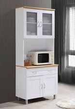 Item 4 Kitchen Hutch Countertop Microwave Cart White China Storage Cabinet Buffet Shelf
