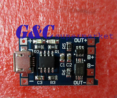 10pcs 5V MICRO  USB 1A Lithium Battery Charging + Protection in one Board Module