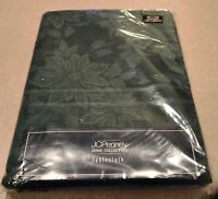J C Penney Home Collection Tablecloth Green Oblong 60x120