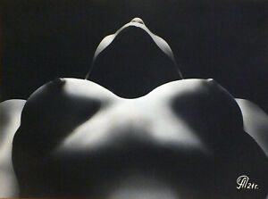 Dibujo de una niña desnuda # 151. Aerografía.