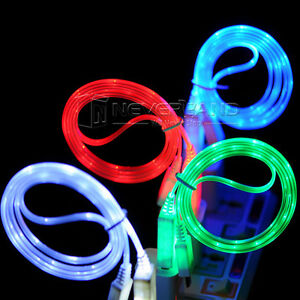 LED-Light-Micro-USB-Charger-Data-Sync-Cable-Cord-for-Android-cell-phone-Visible