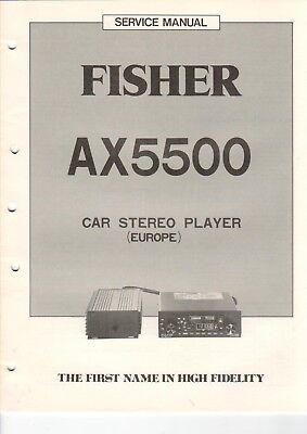 fisher ax5500 service manual schaltbild f r stereo. Black Bedroom Furniture Sets. Home Design Ideas