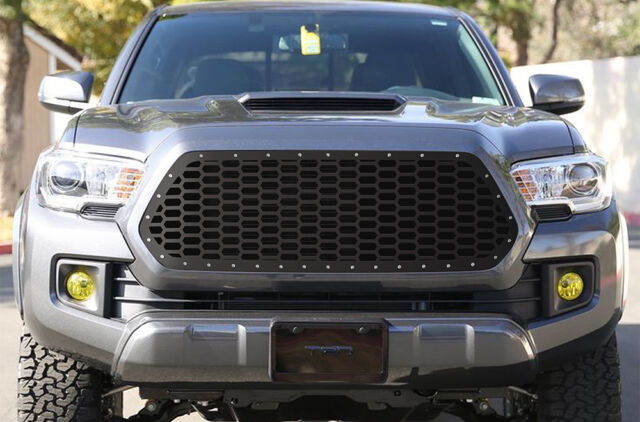Custom Grille Steel Aftermarket Grill Fits Toyota Tacoma 2016 2017 Honeycomb